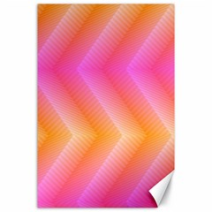 Pattern Background Pink Orange Canvas 24  x 36