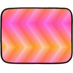 Pattern Background Pink Orange Double Sided Fleece Blanket (Mini)