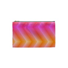 Pattern Background Pink Orange Cosmetic Bag (Small)