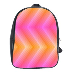 Pattern Background Pink Orange School Bags(Large)
