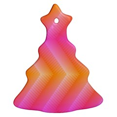 Pattern Background Pink Orange Ornament (Christmas Tree)