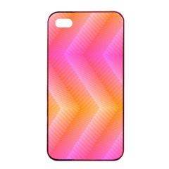 Pattern Background Pink Orange Apple iPhone 4/4s Seamless Case (Black)