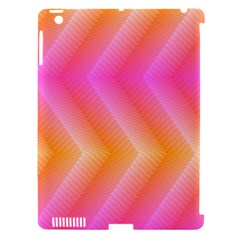 Pattern Background Pink Orange Apple iPad 3/4 Hardshell Case (Compatible with Smart Cover)