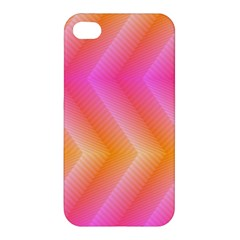 Pattern Background Pink Orange Apple iPhone 4/4S Premium Hardshell Case