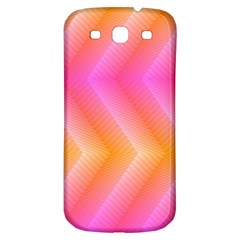 Pattern Background Pink Orange Samsung Galaxy S3 S III Classic Hardshell Back Case