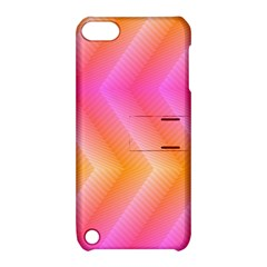 Pattern Background Pink Orange Apple iPod Touch 5 Hardshell Case with Stand