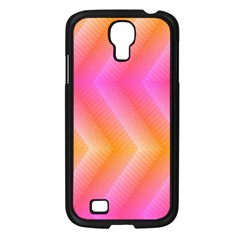 Pattern Background Pink Orange Samsung Galaxy S4 I9500/ I9505 Case (Black)