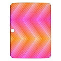 Pattern Background Pink Orange Samsung Galaxy Tab 3 (10.1 ) P5200 Hardshell Case