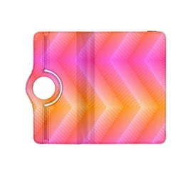 Pattern Background Pink Orange Kindle Fire HDX 8.9  Flip 360 Case