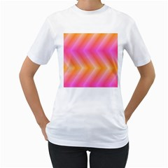 Pattern Background Pink Orange Women s T-Shirt (White)
