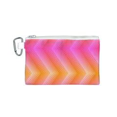 Pattern Background Pink Orange Canvas Cosmetic Bag (S)