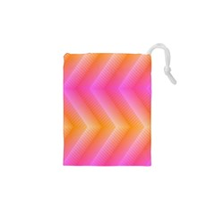 Pattern Background Pink Orange Drawstring Pouches (XS)