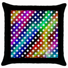 Pattern Template Shiny Throw Pillow Case (Black)