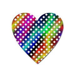 Pattern Template Shiny Heart Magnet