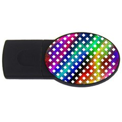 Pattern Template Shiny USB Flash Drive Oval (4 GB)