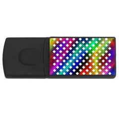 Pattern Template Shiny USB Flash Drive Rectangular (4 GB)