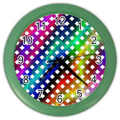 Pattern Template Shiny Color Wall Clocks