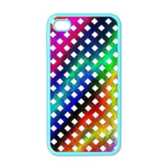 Pattern Template Shiny Apple iPhone 4 Case (Color)