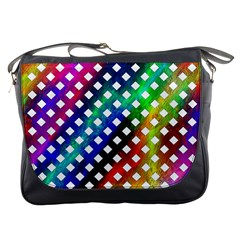 Pattern Template Shiny Messenger Bags