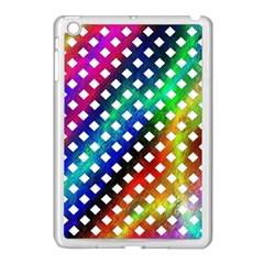 Pattern Template Shiny Apple iPad Mini Case (White)