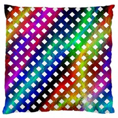 Pattern Template Shiny Standard Flano Cushion Case (One Side)