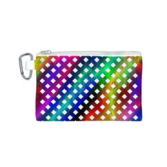 Pattern Template Shiny Canvas Cosmetic Bag (S)