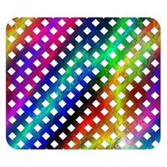 Pattern Template Shiny Double Sided Flano Blanket (Small)