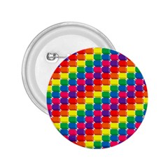 Rainbow 3d Cubes Red Orange 2.25  Buttons
