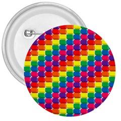 Rainbow 3d Cubes Red Orange 3  Buttons