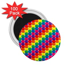 Rainbow 3d Cubes Red Orange 2.25  Magnets (100 pack)