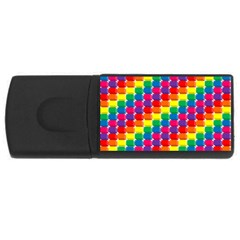 Rainbow 3d Cubes Red Orange USB Flash Drive Rectangular (4 GB)