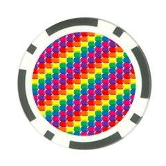Rainbow 3d Cubes Red Orange Poker Chip Card Guards (10 pack)