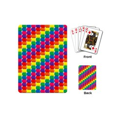 Rainbow 3d Cubes Red Orange Playing Cards (Mini)