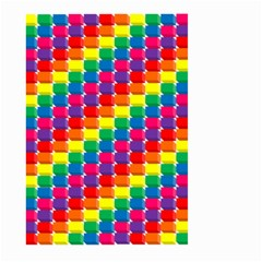 Rainbow 3d Cubes Red Orange Large Garden Flag (Two Sides)