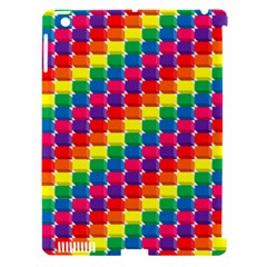Rainbow 3d Cubes Red Orange Apple iPad 3/4 Hardshell Case (Compatible with Smart Cover)