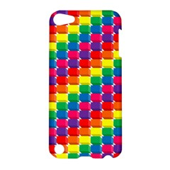 Rainbow 3d Cubes Red Orange Apple iPod Touch 5 Hardshell Case