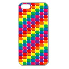 Rainbow 3d Cubes Red Orange Apple Seamless iPhone 5 Case (Clear)