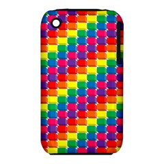 Rainbow 3d Cubes Red Orange iPhone 3S/3GS
