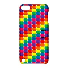 Rainbow 3d Cubes Red Orange Apple iPod Touch 5 Hardshell Case with Stand