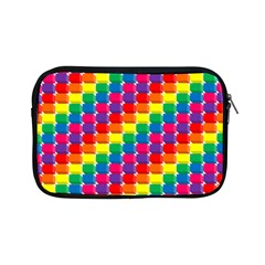 Rainbow 3d Cubes Red Orange Apple iPad Mini Zipper Cases