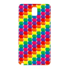 Rainbow 3d Cubes Red Orange Samsung Galaxy Note 3 N9005 Hardshell Back Case