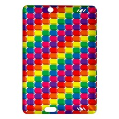 Rainbow 3d Cubes Red Orange Amazon Kindle Fire HD (2013) Hardshell Case