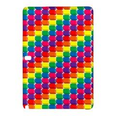 Rainbow 3d Cubes Red Orange Samsung Galaxy Tab Pro 10.1 Hardshell Case