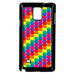 Rainbow 3d Cubes Red Orange Samsung Galaxy Note 4 Case (Black)