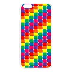 Rainbow 3d Cubes Red Orange Apple Seamless iPhone 6 Plus/6S Plus Case (Transparent)