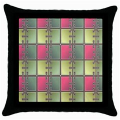 Seamless Pattern Seamless Design Throw Pillow Case (Black)