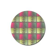 Seamless Pattern Seamless Design Rubber Coaster (Round)