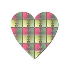 Seamless Pattern Seamless Design Heart Magnet
