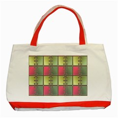 Seamless Pattern Seamless Design Classic Tote Bag (Red)