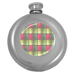 Seamless Pattern Seamless Design Round Hip Flask (5 oz)